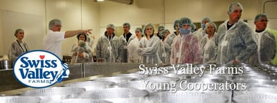 Swiss Valley Young Cooperators on a Cheese Plant Tour