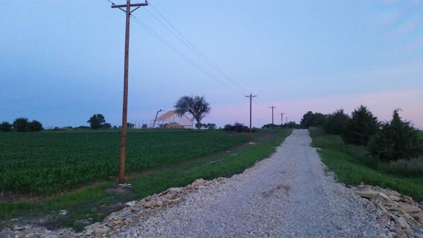 Up Driveway at Barn