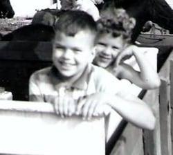 Dave & Pam as little kids