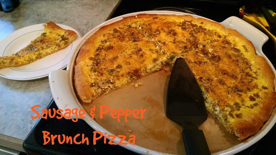 Sausage & Pepper Brunch Pizza