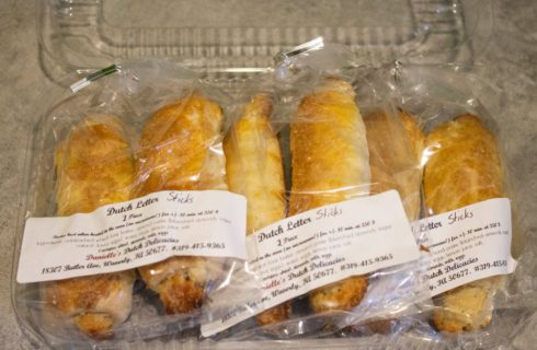 package of 6 Dutch Letter Pastry sticks
