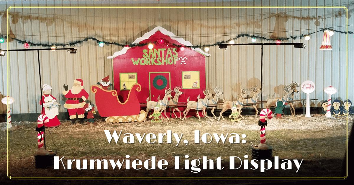 Santa's Workshop Lights Display