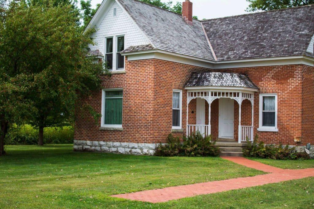 restored brick home